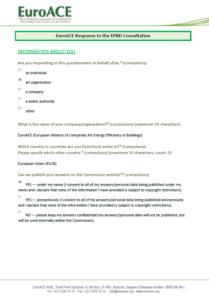 EPBD Public Consultation Questionnaire